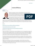 Measuring Power Conversion Efficiency