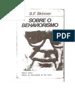 Skinner Sobre o Behaviorismo Comportamento Operante