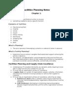 Facilities Notes
