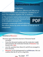 01 Aromatic Hydrocarbons Benzene