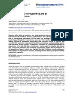 Human Empathy Through the Lens of Social Neuroscience