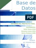 Informe Base de Datos- Proyecto
