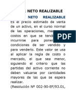 Valor Neto Realizable