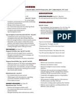 Malmgren Resume