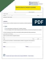 Modulo Attivazione Procedura Per Contributo Volontario