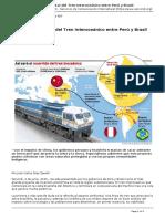 Servindi - Servicios de Comunicacion Intercultural - El Riesgo Ambiental Del Tren Interoceanico Entre Peru y Brasil - 2015-06-04