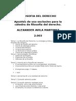 Avila MArtinez - Filosofia Del Derecho 2003 Perú