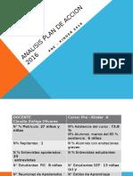 Analisis Plan de Accion 2016 Pre-kinder 2