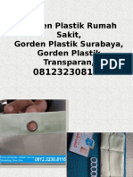 Gorden Plastik Rumah Sakit,Gorden Plastik Surabaya,Gorden Plastik Transparan,081232308116