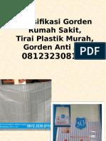 Spesifikasi Gorden Rumah Sakit,Tirai Plastik Murah,Gorden Anti Air,081232308116
