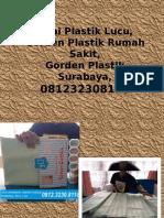 Tirai Plastik Lucu,Gorden Plastik Rumah Sakit,Gorden Plastik Surabaya,081232308116