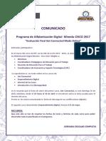 Comunicado-Programa de Alfabetización Digital Minedu-CISCO 2017