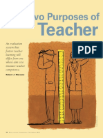 the two purposes of teacher evaluation by robert marzano