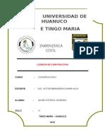 Licencia de Construccio - Tarea I