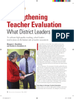 strengthening teacher evaluation--what district leaders can do