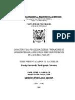 Características Psicosociales de Los Trabajadores de Salud