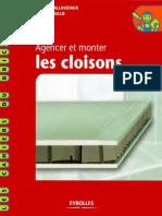 Agencer Et Monter Les Cloisons-eyrolles