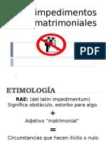 IMPEDIMENTOS MATRIMONIALESxxx