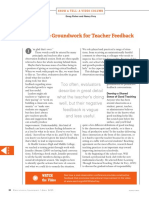 laying the groundwork for teacher feedback