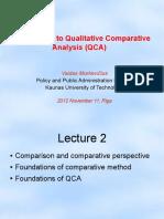 Qualitative Comparative Analysis - Introduction