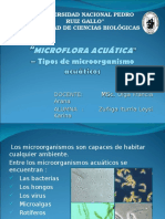 MICROFLORA ACUÁTICA