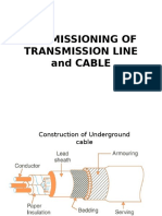 Commissioning of Transmission Line and Cable