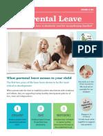 parental leave advocacy brochure
