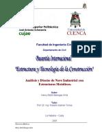 Análisis y Diseño Nave Ind. Conexiones Soldadas Diseño Estudiar