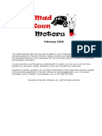 Mechanic Auto Repair Sample Business Plan
