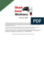 Mechanic Auto Repair Sample Business Plan