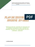 Plan de Seguridad e Higiene de Agua i desague