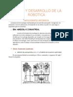 Origen y Desarrollo de La Robotica