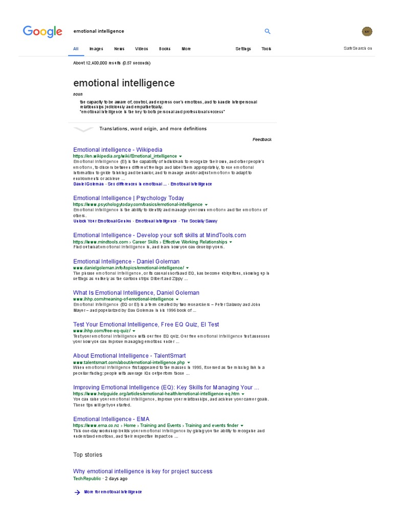 topics on emotional intelligence