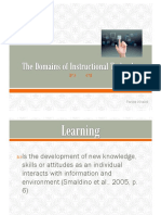 The Domains of Instructional Technology