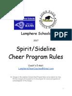 2017 sideline rules