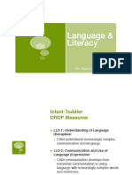 curriculum content- language and literacy