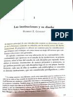 Robert E Goodin -Las instituciones y su diseño