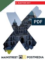 Mainstreet - Final B.C. Election 2017 Poll