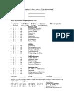Employability Skills Evaluation - Mosinee