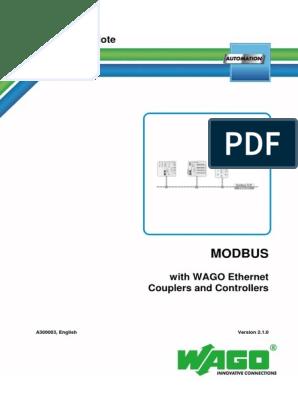 MODBUS WAGO PLC | Input/Output | Library (Computing)