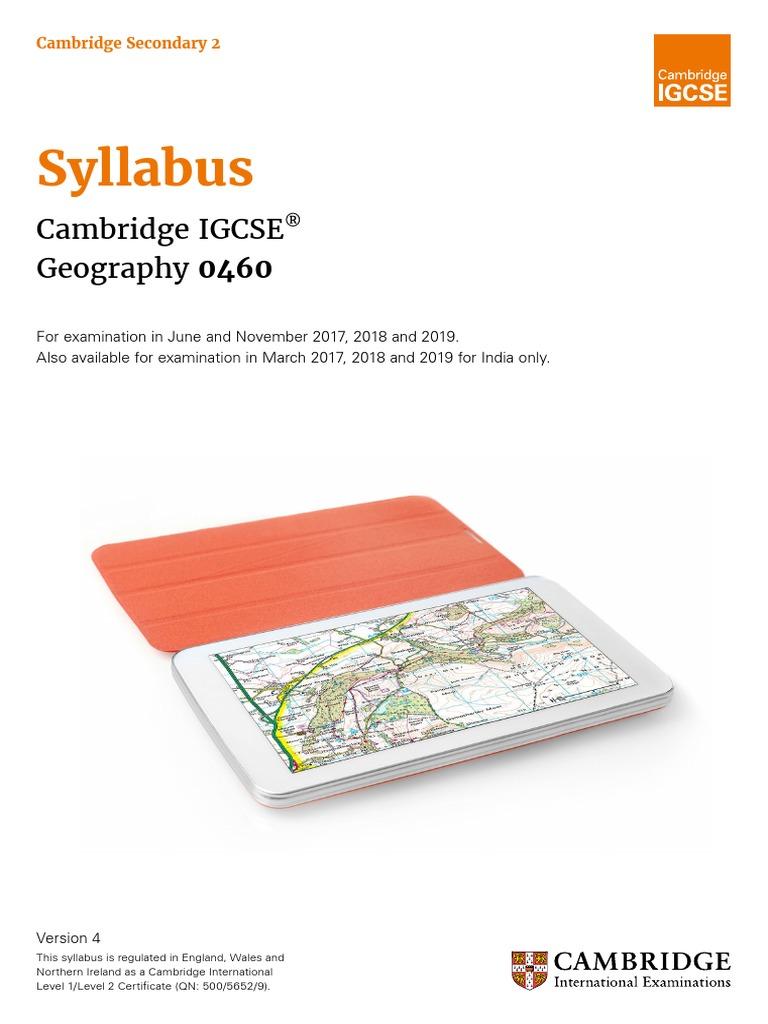 IGCSE Geography Syllabus pdf | Volcano | Climate
