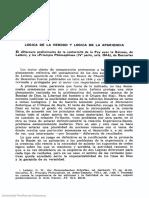 Lógica de La Verdad y Lógica de La Apariencia (Ángel Álvarez Gómez)