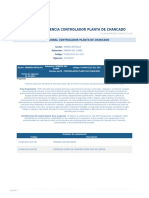 Perfil Competencia Controlador Planta de Chancado