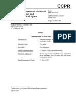 Pimentel vs. the Philippines, Case No. 1320-2004