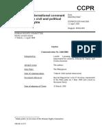 Lumango and Santos vs. the Philippines, Case No. 1466-2006