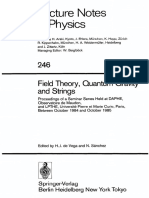 Field Theory, Quantum Gravity, And Strings -Springer-Verlag (1986)