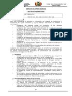 g.especificaciones Tecnicas - Sanitaria