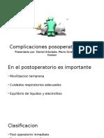 Complicaciones posoperatorias