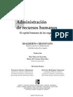 Administracion de Recursos Humanos. CHIAVENATO_Prestaciones Sociales