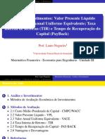Aula 4 - Análise e Investimentos